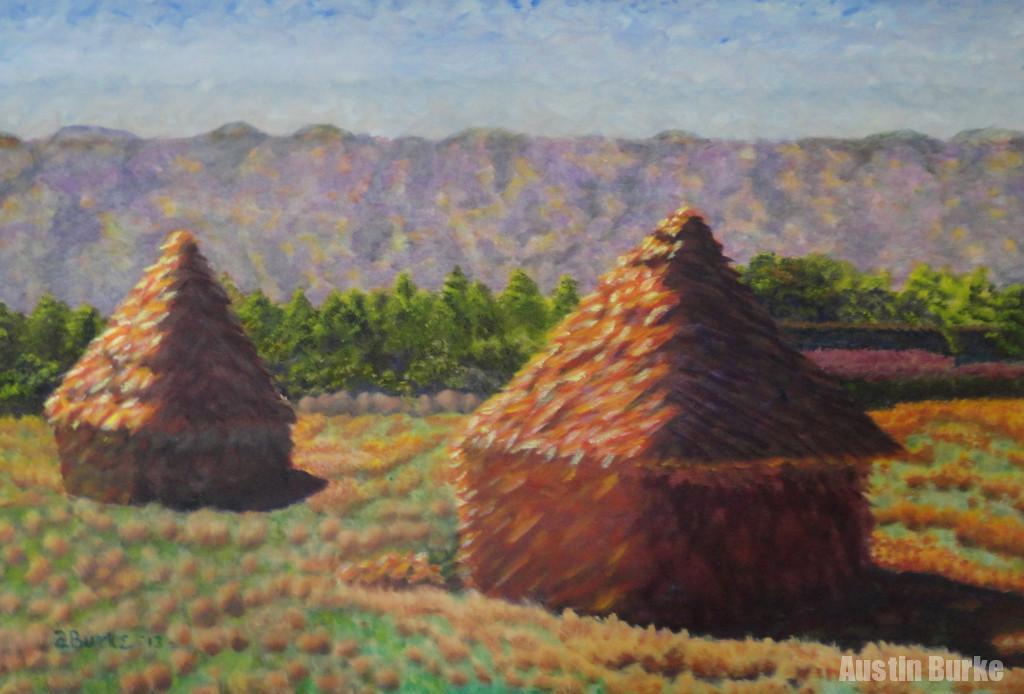 Haystacks, after Monet
