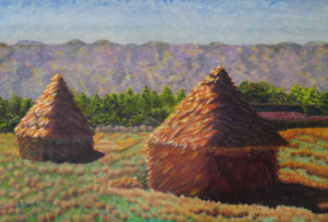 Haystacks, After Monet