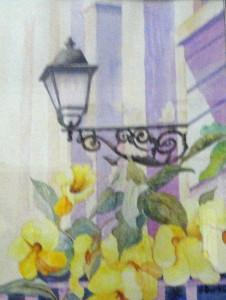 San Juan, Lantern and Tropical Flowers