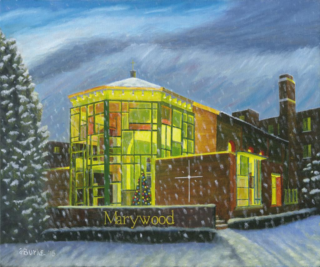 Marywood's Marian Chapel in Winter