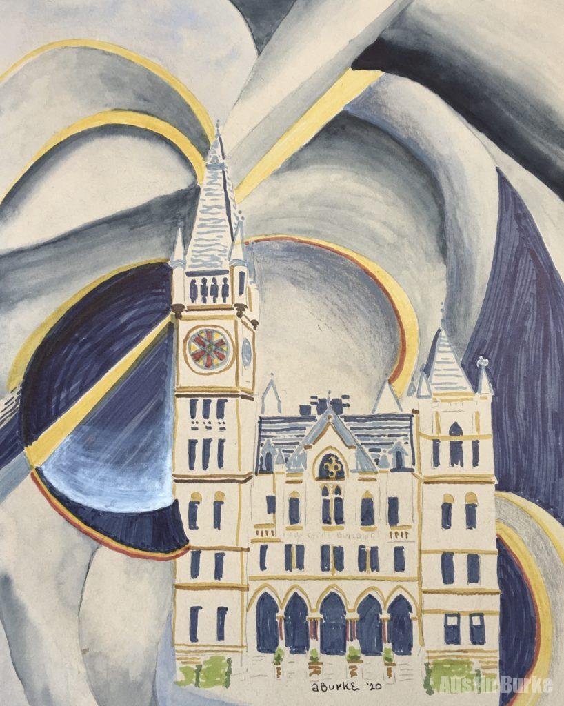 City Hall Precisionist Sketch