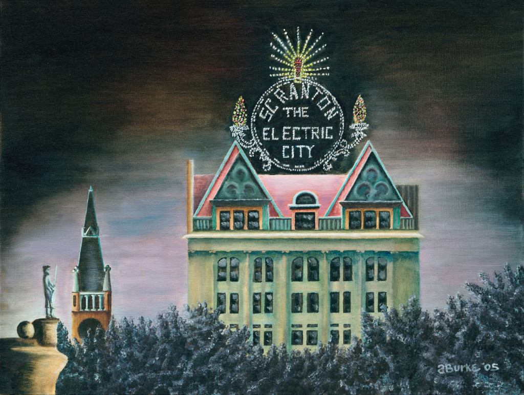 Electric City At Night