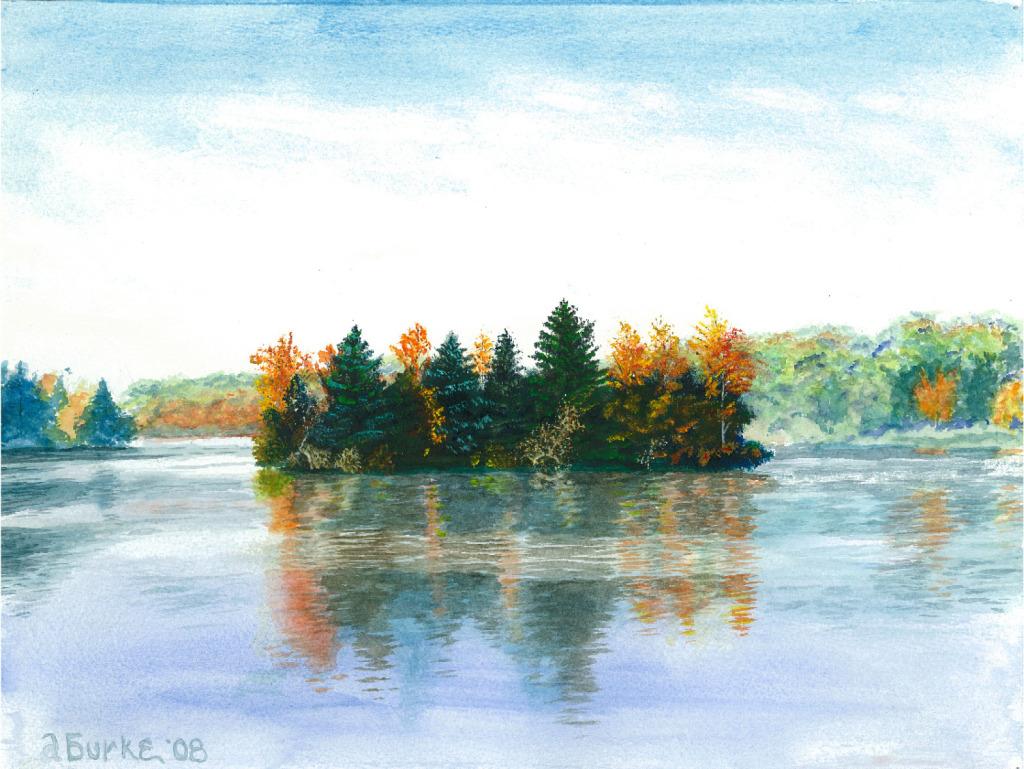 Lake Ariel, Dumb Man Island,  Autumn